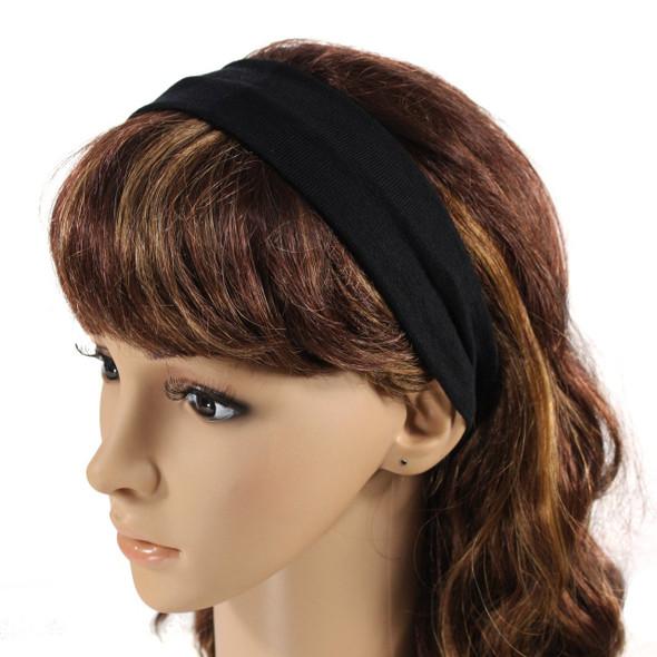 Black Cotton Headband 6666