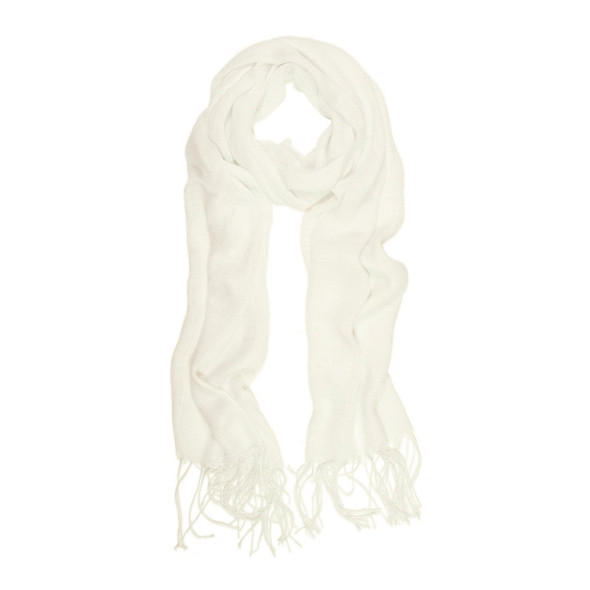 Viscose Scarf Light Wear White Spring Summer Fall 2043