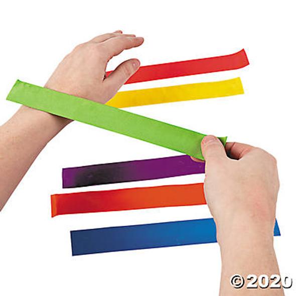 Slap Bracelets |  10 PACK Mixed Colors- 10 PACK 6518
