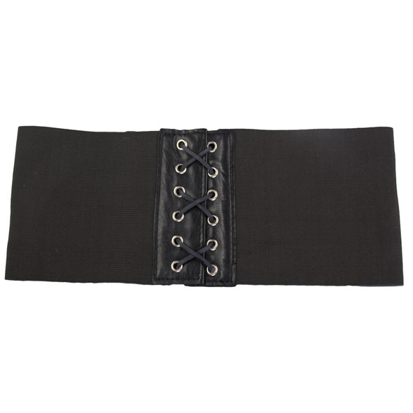 "Corset Cinch Belt Black Elastic Stretch 4.5"" Wide 2202"