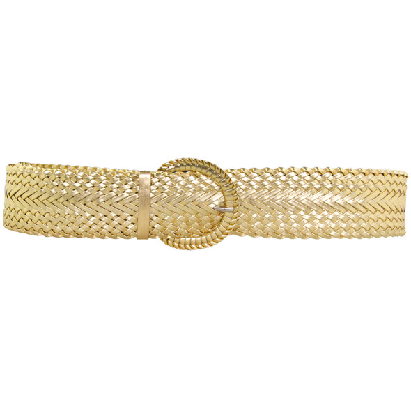 12 PACK Gold Diva Wide Braided Belts Mix Sizes 2730A