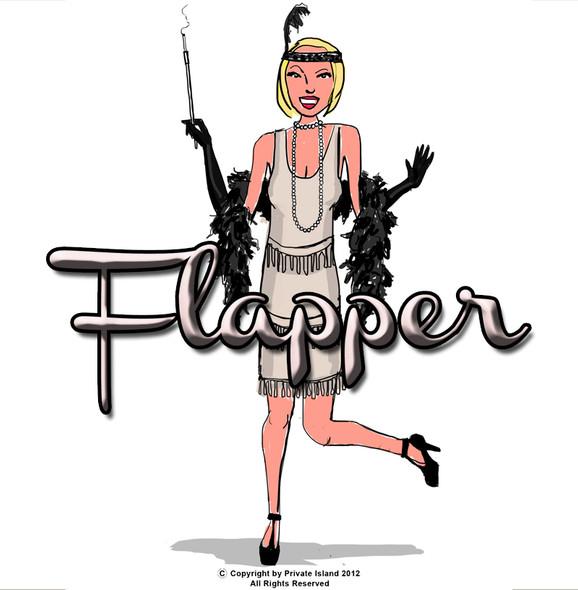 Flapper Costume Black Deluxe 4412