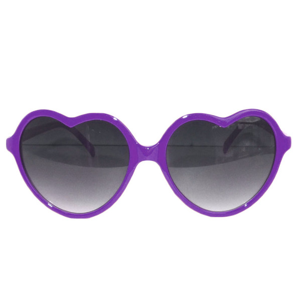 Purple Lolita Heart Shape Sunglasses 1014