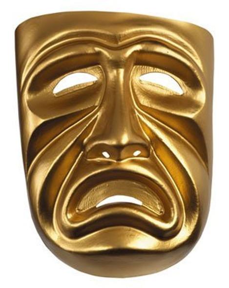 Gold Tragedy Mask 1668