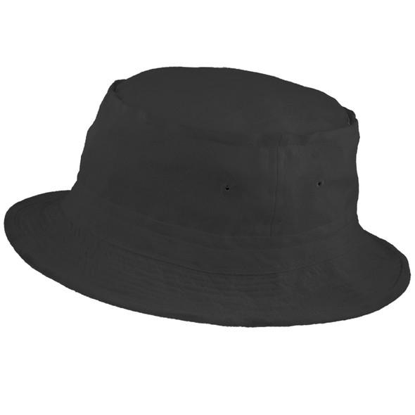 "Fisherman Bucket Hat Black 22.5"" Standard Adult 5820"