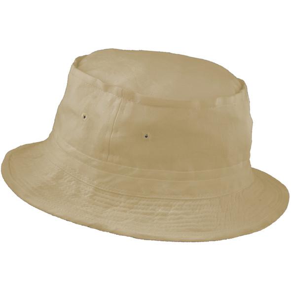 "Fisherman Bucket Hat Beige 22.5"" Standard Adult 5822"