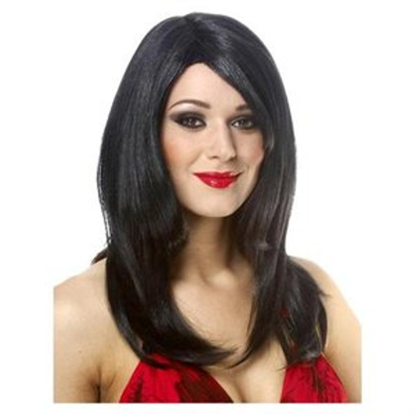 Black Straight Bangs Wig 6054