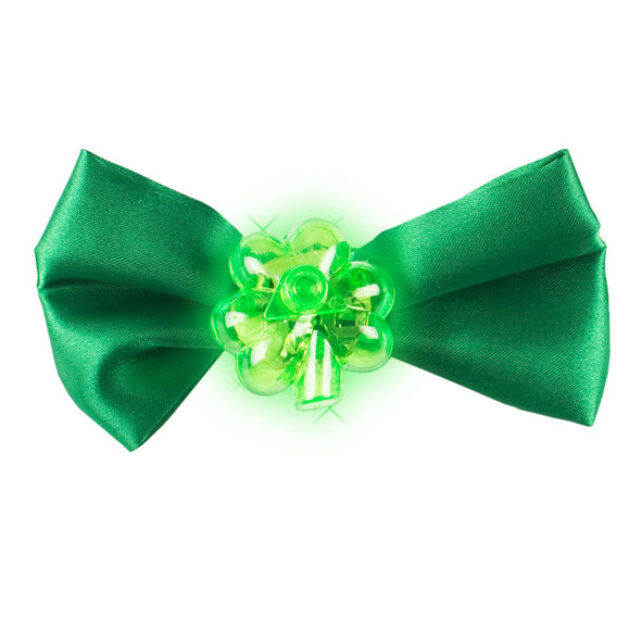 St. Patrick's Green Flashing Bow Tie 6804