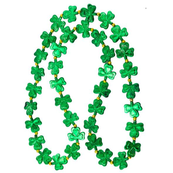 "St. Patricks Day Jumbo 48"" Shamrock Beads 6693"