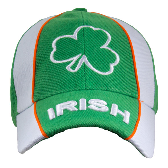 St. Patricks Day Shamrock Cap White & Green 5960