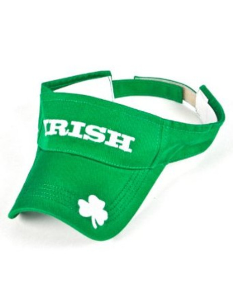 St. Patricks Day Shamrock Green Visor 5958