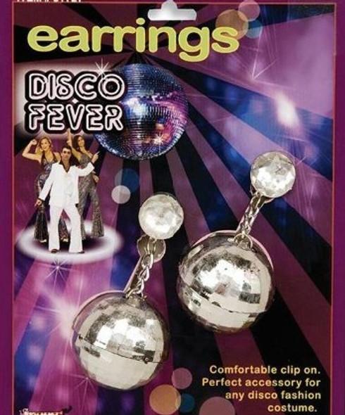 70's Disco Ball Costume Earrings 6695