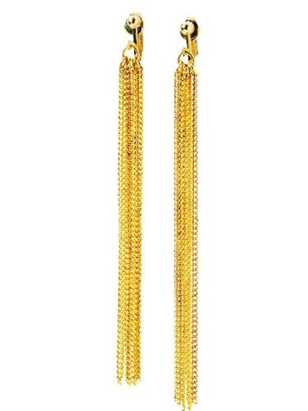 70's Disco Chain Earrings 6696
