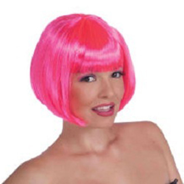 70's Neon Pink Bob Costume Disco Wig 6074 12 PCS Minimum
