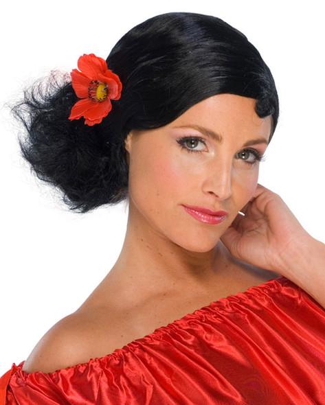 Spanish Senorita Costume Wig 6090