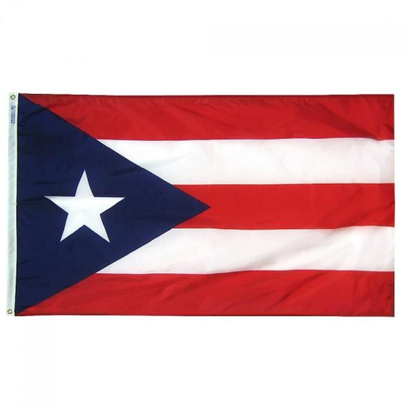 """12 PACK Wholesale Puerto Rican Pride Flags 12"""" 9029"""