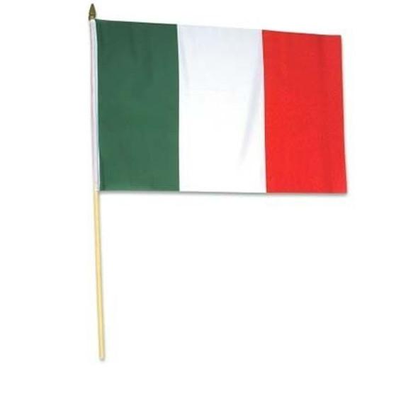 "12 PACK Wholesale Italian Pride Flags 12"" 9030"