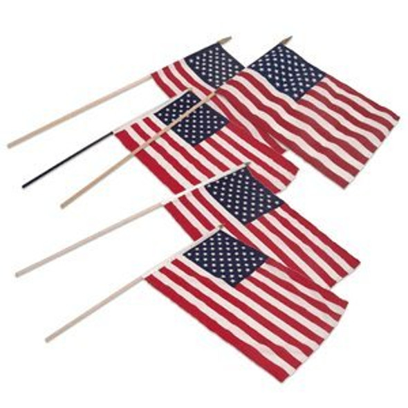 "12 PACK Wholesale USA Pride Flags 12"" 9032"
