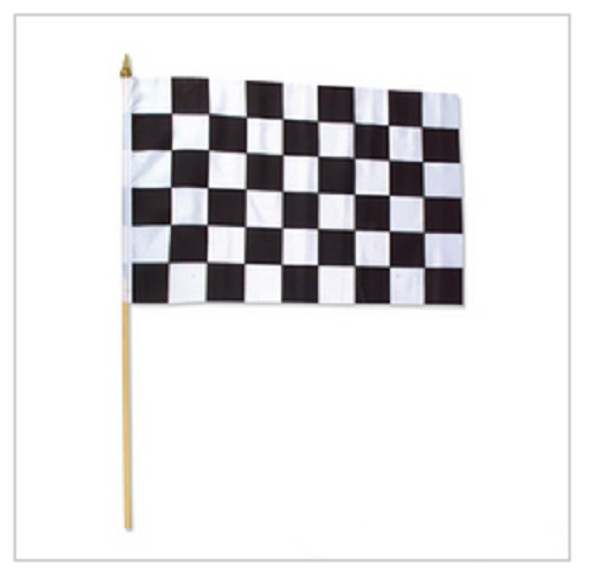 "12 PACK  Wholesale Racing Flags 12"" 9035"