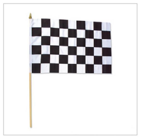 "12 PACK  Wholesale Racing Flags 12"" 9035"
