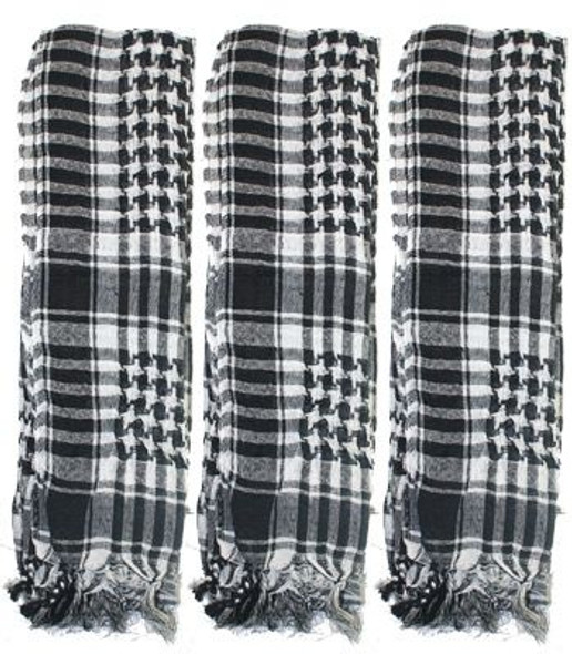 12 PACK White and Black Military Tactical Desert Scarf 2165