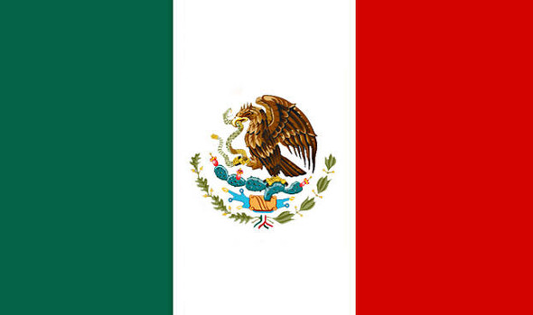 Mexican Pride Flags 3' X 5' FT 9087