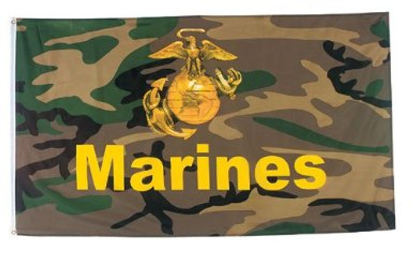 Woodland Camo Marines Pride Flag 3' x 5' FT 3120