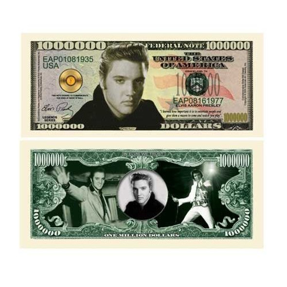 Elvis Presley Million Dollar Bill 9123