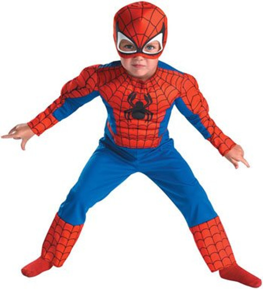 Toddler Spiderman Movie Classic Muscle Costume 4572