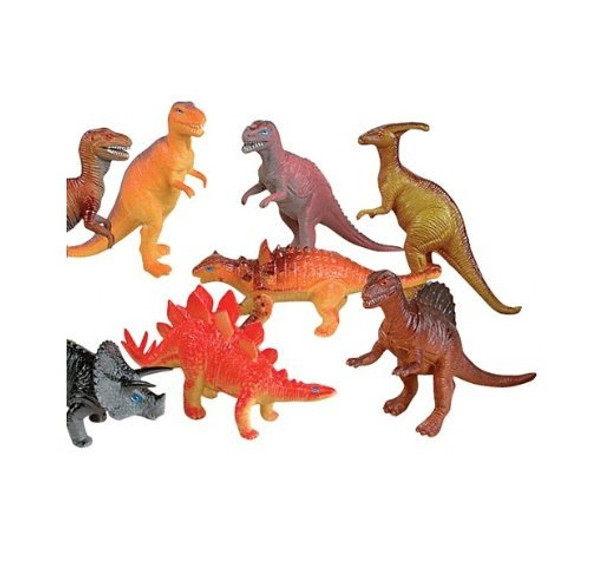 Dozen Jumbo Dinosaurs Bulk 6 Inches Long 9127