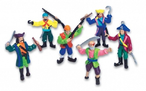 Set 12 Small Plastic Toy Pirates 9130