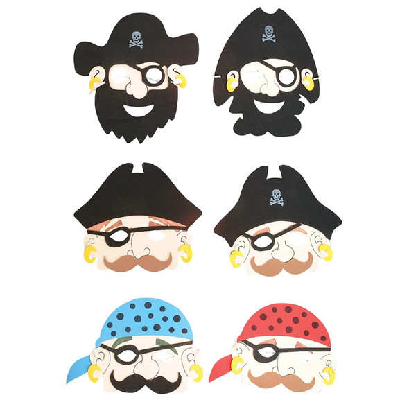 Foam Pirate Masks 12 PACK 1814