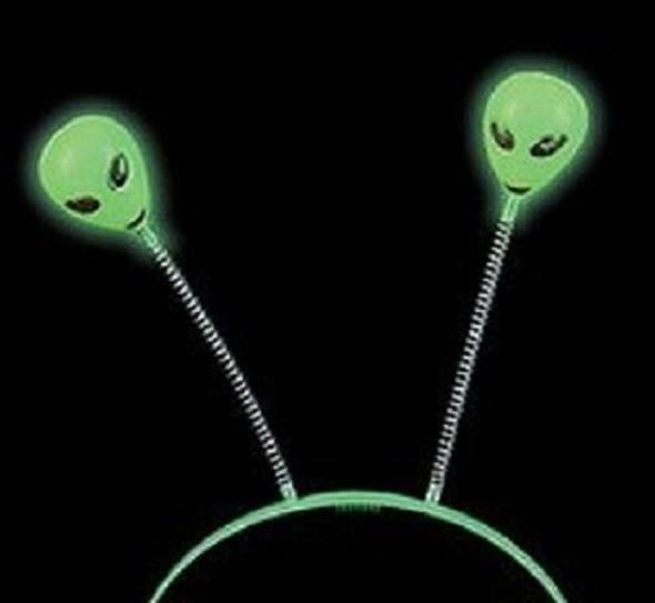 Glow in the Dark Alien Head Boppers 1833