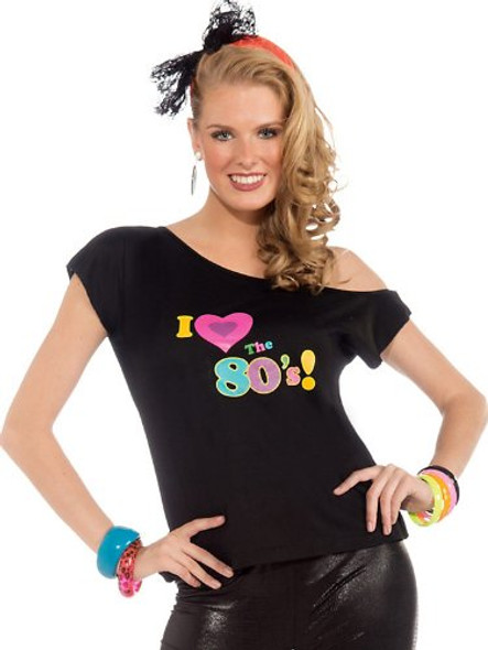 Womens I Love The 80's Shirt Adult Costume 4532S-4532L