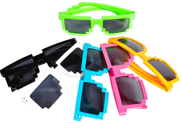 Pixel Sunglasses | Pixel Sunglasses Wholesale | Pixel Sunglasses Bulk | ADULT 12 PACK