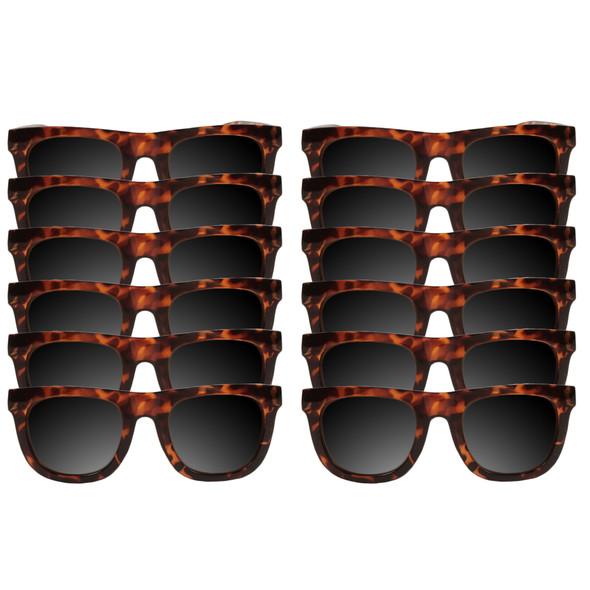 Dozen brown wayfarers