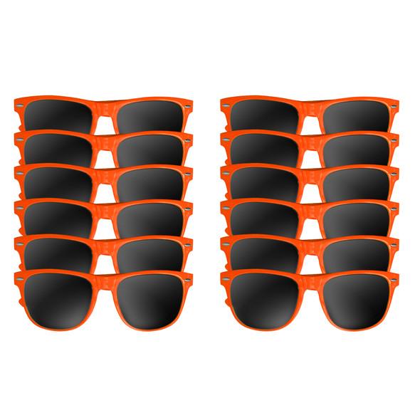 12 PACK Orange Sunglasses Polycarbonate
