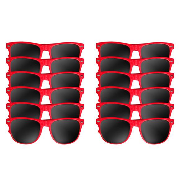 Dozen red wayfarer sunglasses