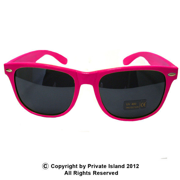 Hot Pink Sunglasses | Iconic 80's Style | Adult 12 PACK 1054D