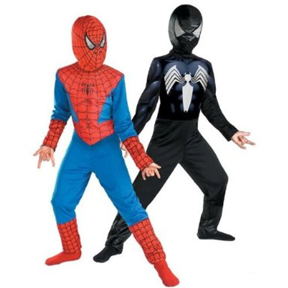 Reversible Spider-Man Red To Black Classic Child Costume
