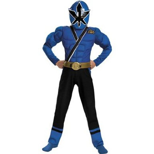 Blue Ranger Samurai Classic Muscle Child Costume