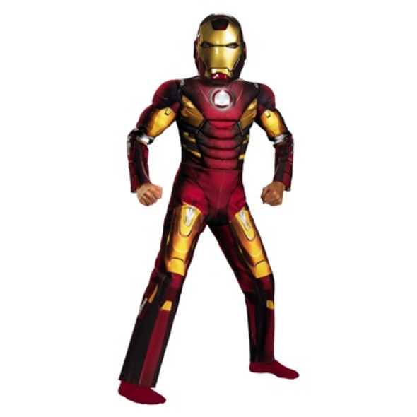 Avengers Iron Man Mark 7 Muscle Light Up Child Costume