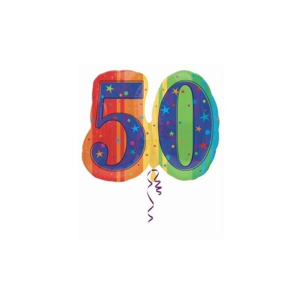 50th Bithday Balloon Metallic 3815