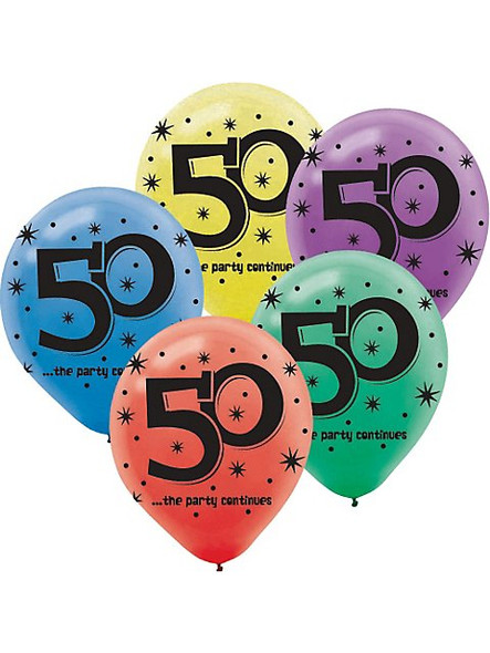 Happy Birthday Balloons 50 The Party Continues 3816