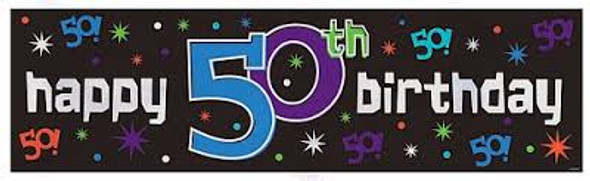 "Birthday Banner ""50 The Party Continues""  3817"