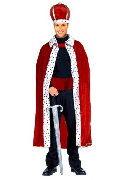 King Robe & Crown Costume Mardi Gras Adult