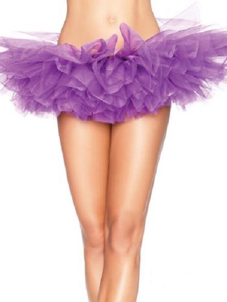 Sexy 80s Punk Costume Petticoat Neon Purple Tutu Skirt