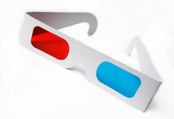 Red/Cyan 3D Glasses Paper 12 PACK 1172D
