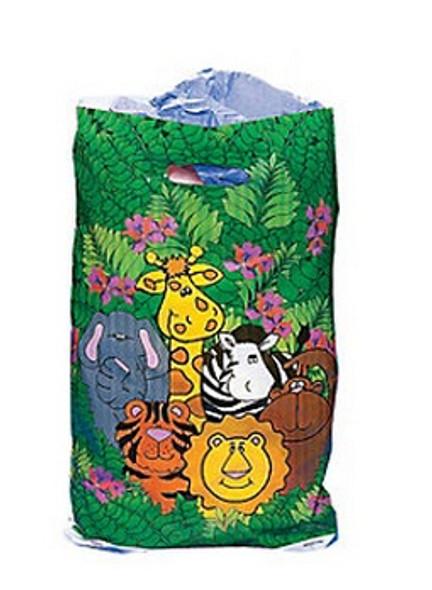 Safari Goody Bags Zoo Animal Treat Bags 12 PACK 3883