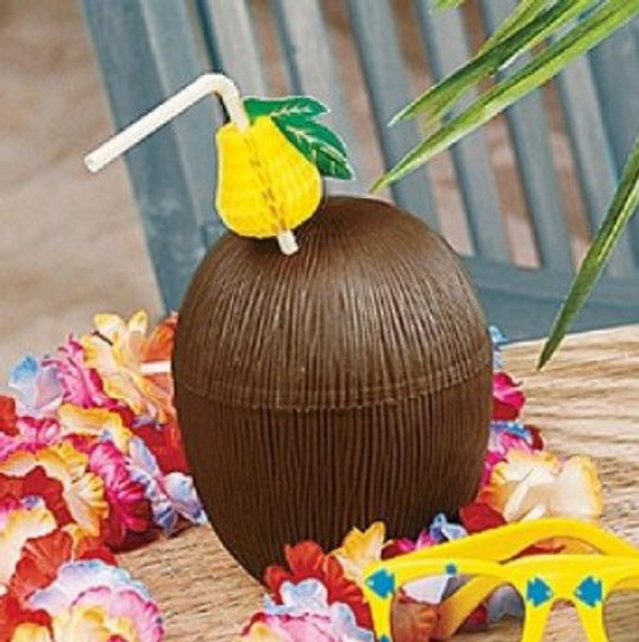 Plastic Coconut Cup 12 PACK 3832D